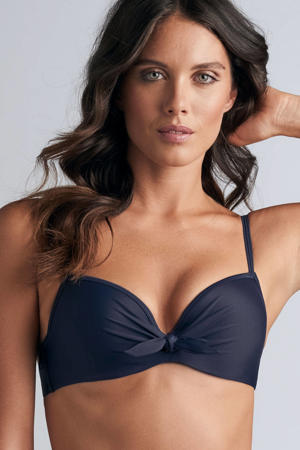 push-up bikinitop Lotus donkerblauw