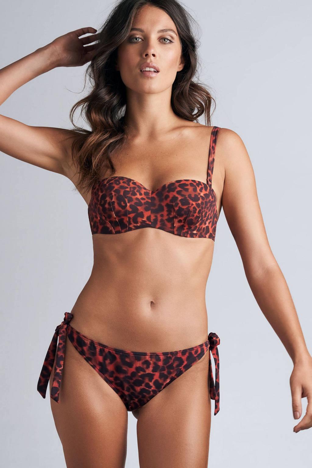 marlies dekkers strapless beugel bikinitop Panthera rood/zwart, Rood/zwart