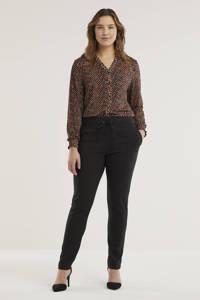 Exxcellent skinny broek Paula zwart, Zwart