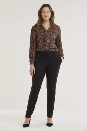 skinny broek Paula zwart