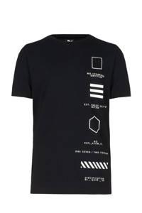 Jill & Mitch by Shoeby T-shirt Liam met printopdruk zwart/wit, Zwart/wit