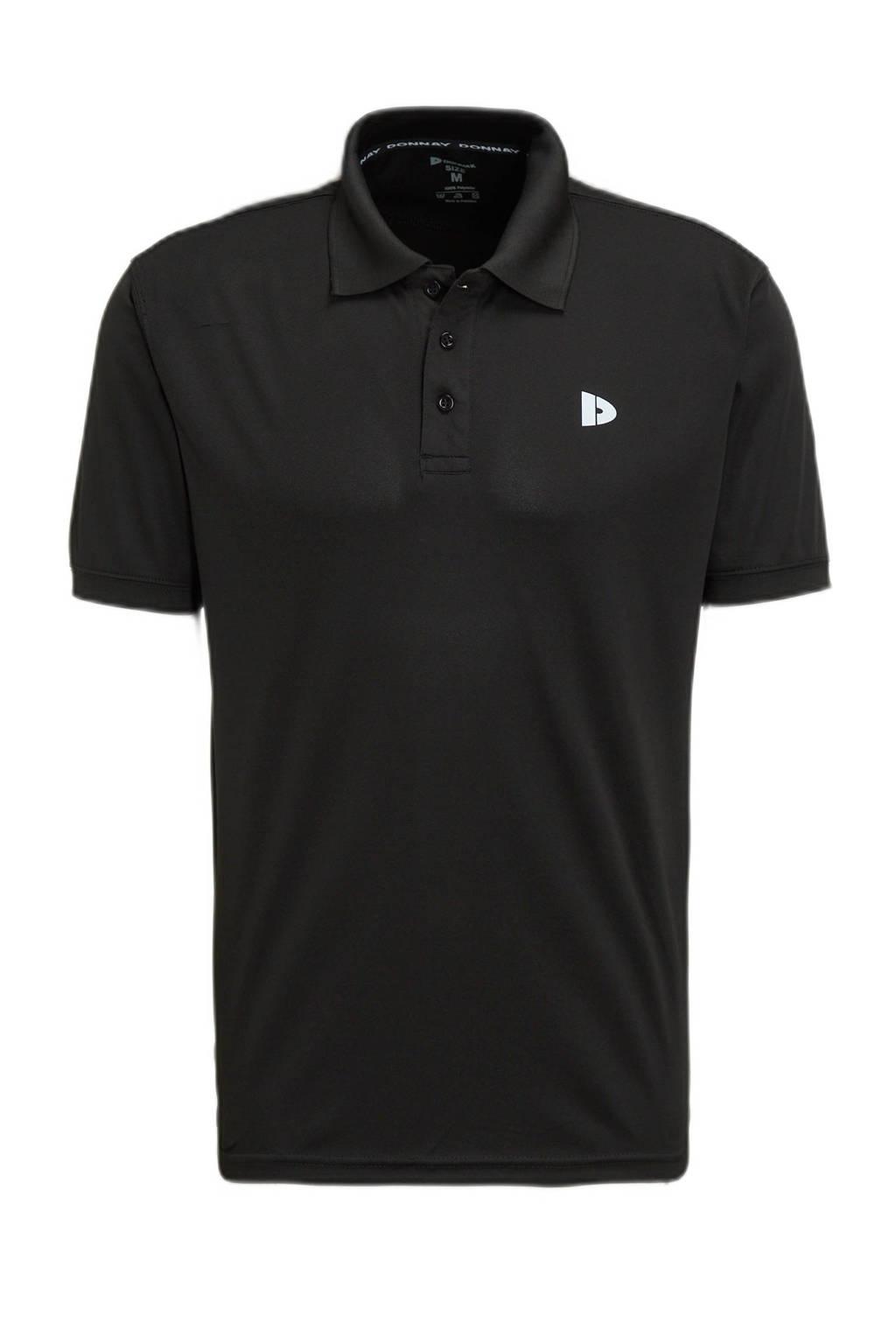 Donnay   sportpolo zwart, Zwart