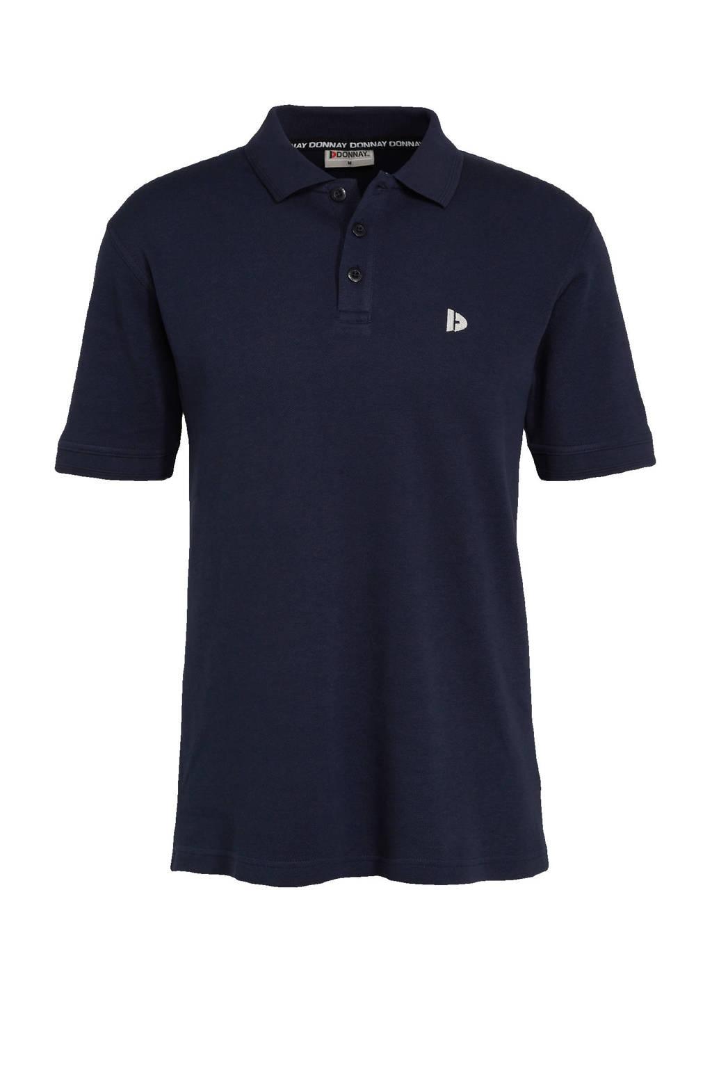 Donnay   sportpolo donkerblauw, Donkerblauw