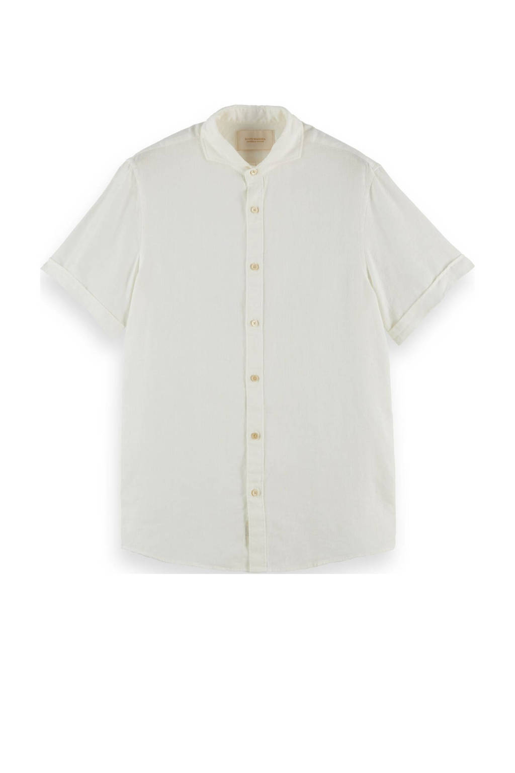 Scotch & Soda regular fit overhemd ecru, Ecru