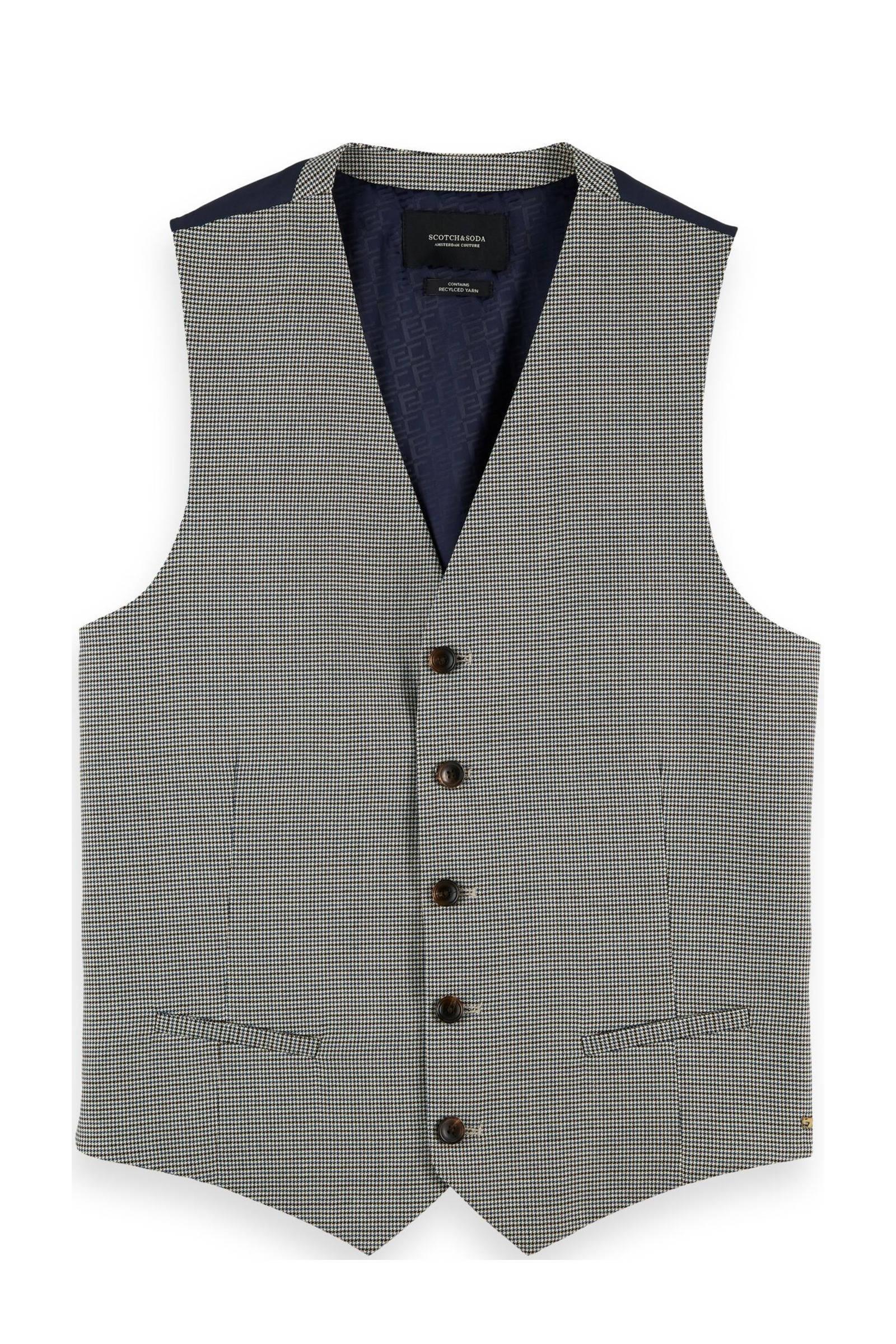 Scotch & Soda gemêleerd gilet van gerecycled polyester grijs melange online kopen