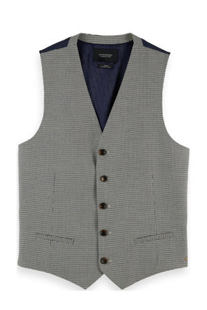 gemêleerd gilet van gerecycled polyester grijs melange
