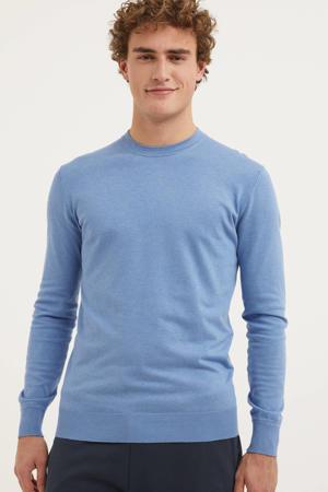 fijngebreide trui lichtblauw