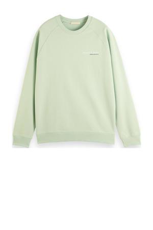 sweater van biologisch katoen mintgroen