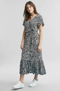 GREAT LOOKS jurk met all-over animal print, Zwart/ecru