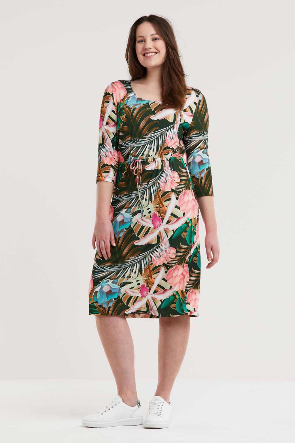 GREAT LOOKS jurk met all-over print groen multi, Groen/multi