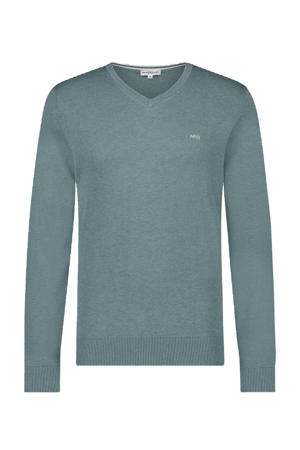 trui met logo grijsblauw