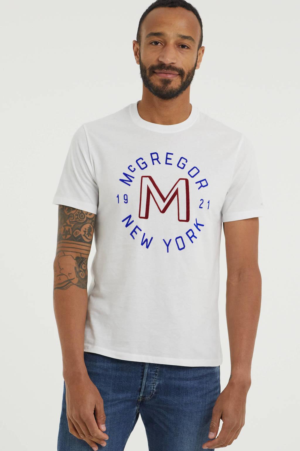 McGregor T-shirt met printopdruk wit, Wit