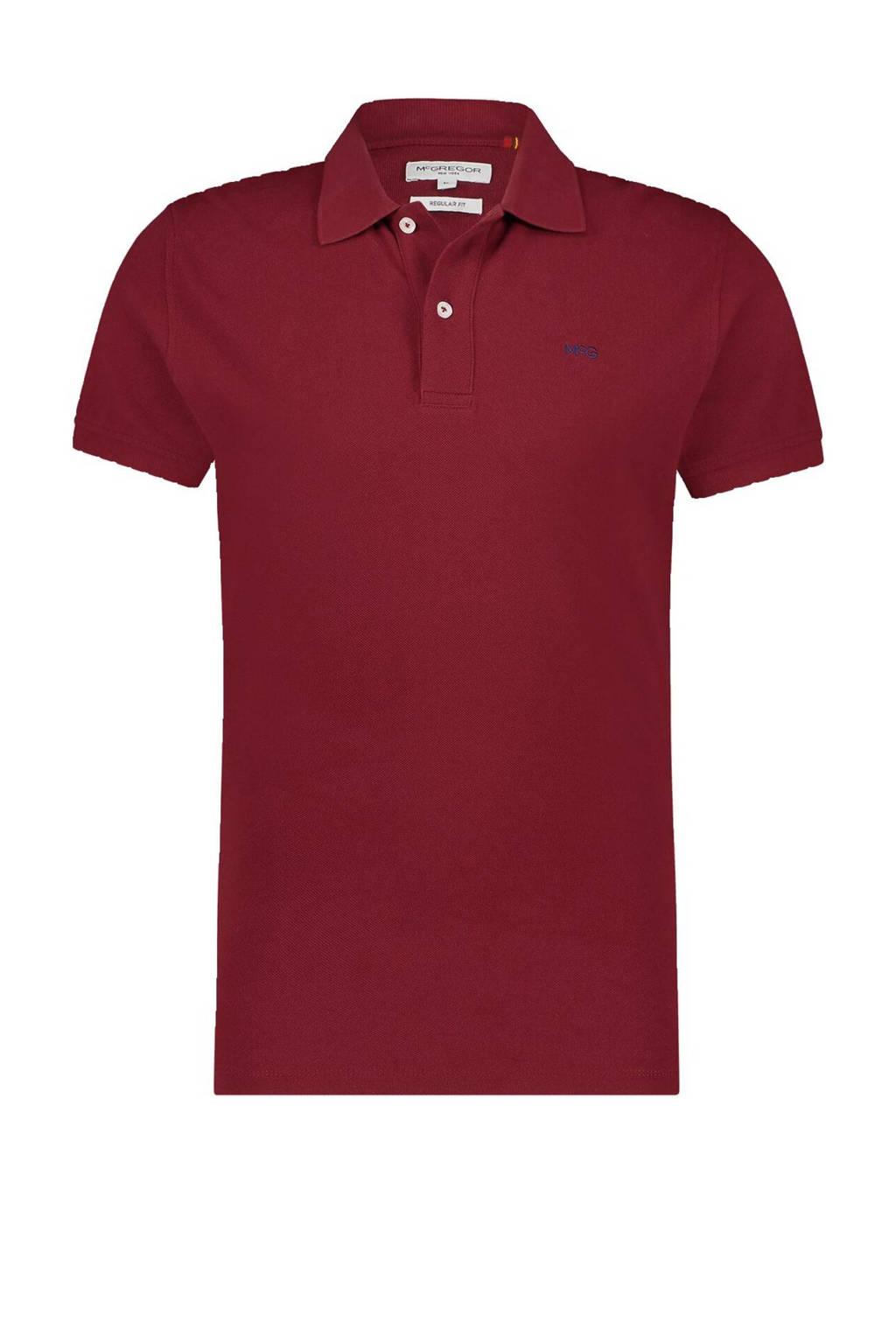 McGregor regular fit polo met logo donkerrood, Donkerrood