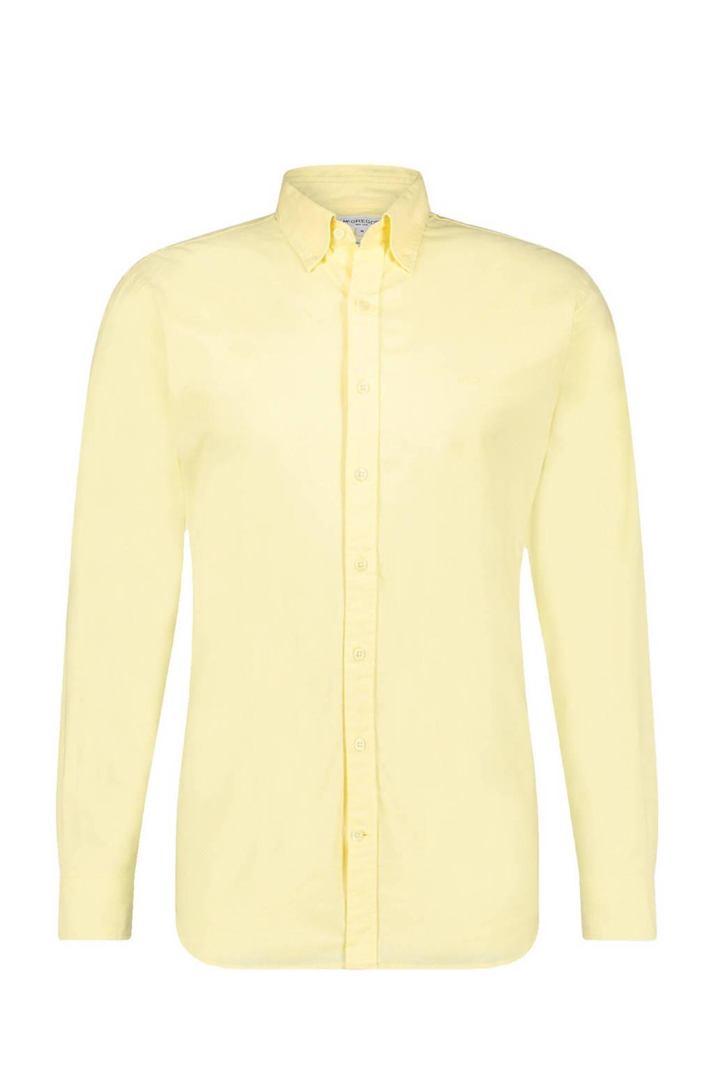 McGregor regular fit overhemd lichtgeel, Lichtgeel