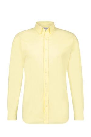 regular fit overhemd lichtgeel