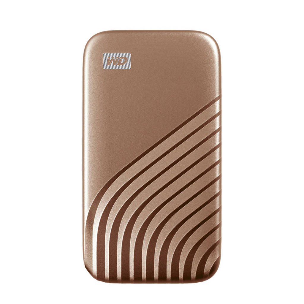 WD Digital My Passport externe SSD 2TB (goud), Goud