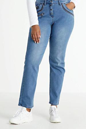 high waist straight fit jeans Salsa light denim