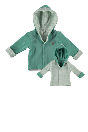 B.E.S.S reversible vest groen/ecru