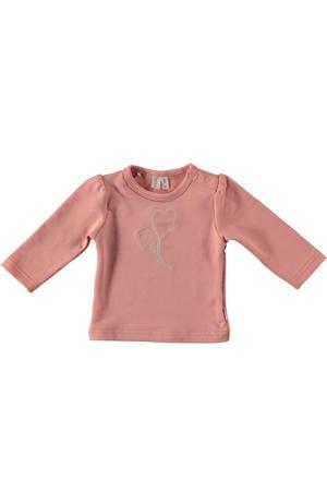 B.E.S.S baby longsleeve met printopdruk roze
