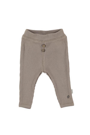 B.E.S.S baby regular fit broek taupe
