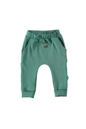 B.E.S.S baby regular fit broek groen