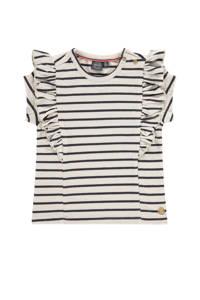 Babyface gestreept T-shirt ecru/zwart, Ecru/zwart