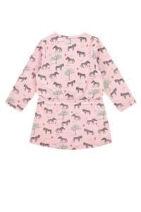 Babyface jurk met all over print roze/mintgroen/zwart, Roze/mintgroen/zwart