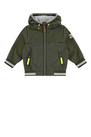 zomerjas army groen/grijs melange/neon geel
