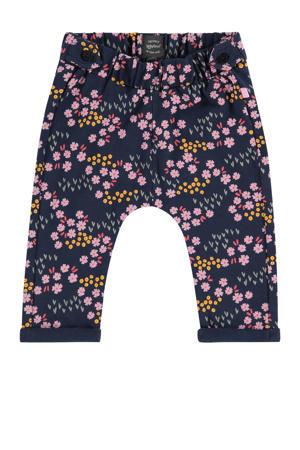 baby regular fit broek met biologisch katoen marine/roze