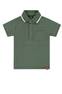 Babyface polo met all over print groen/wit, Groen/wit