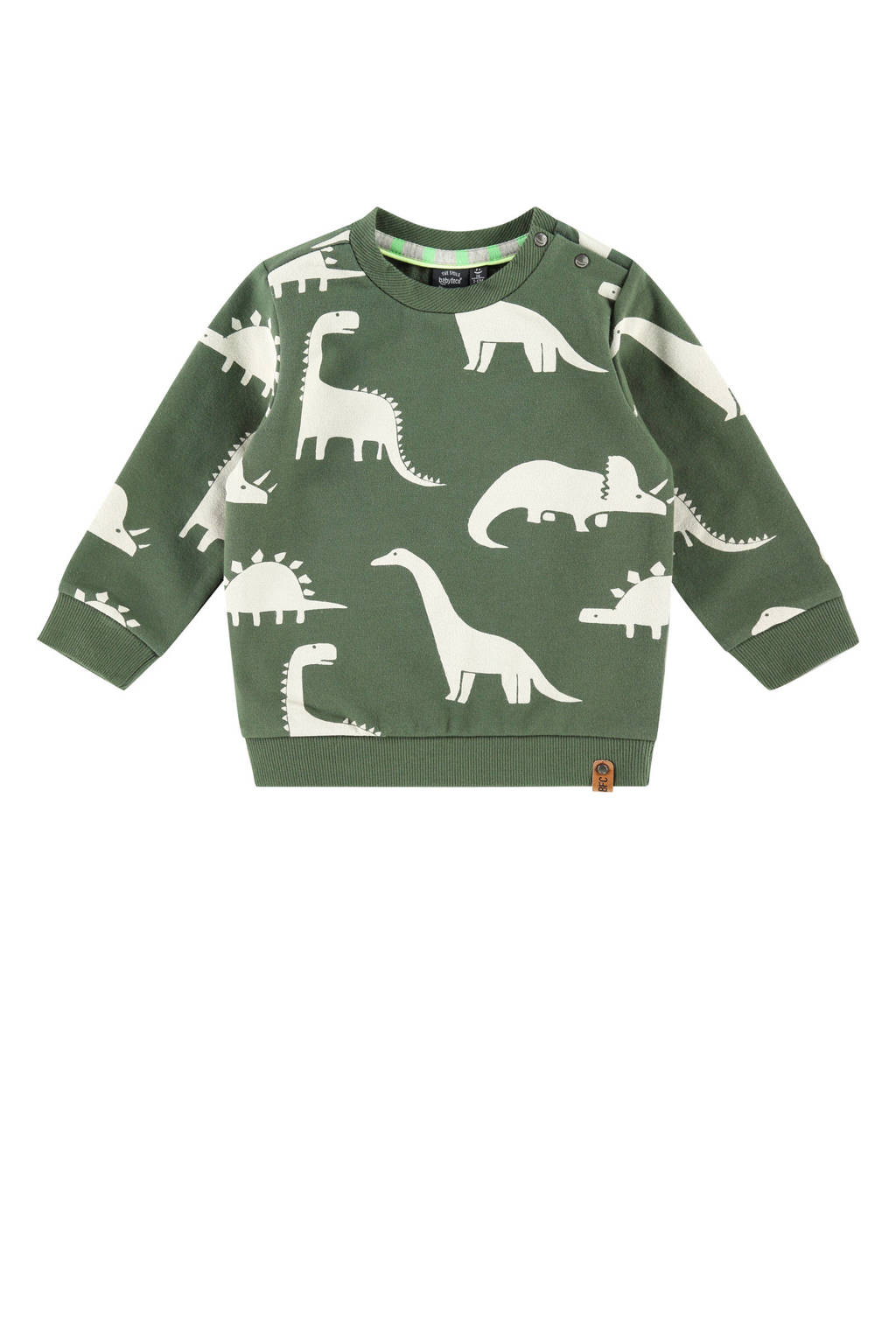 Babyface sweater met all over print army groen, Army groen