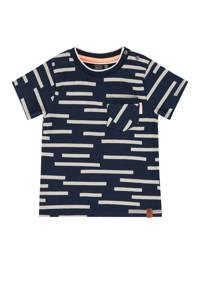 Babyface gestreept T-shirt donkerblauw/wit, Donkerblauw/wit