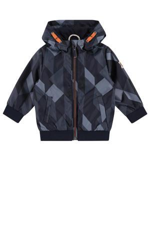 zomerjas met grafische print donkerblauw