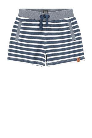 gestreepte korte broek donkerblauw/wit