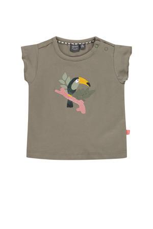 baby T-shirt met biologisch katoen mosgroen