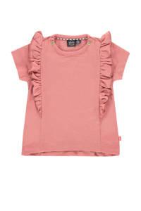 Babyface baby T-shirt van biologisch katoen roze, Roze