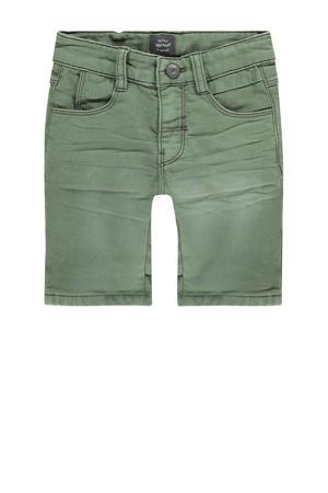 jeans bermuda donkergroen