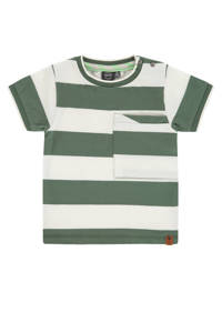 Babyface gestreept T-shirt groen/wit, Groen/wit