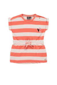 Babyface gestreepte jurk koraalrood/wit, Koraalrood/wit