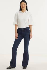 Kings of Indigo high waist flared jeans Marie met biologisch katoen stay black, 3026 COATED NIGHT