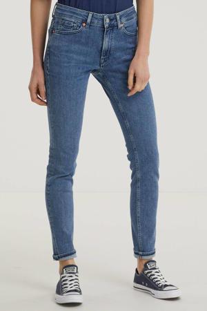 high waist slim fit jeans Juno met biologisch katoen medium used
