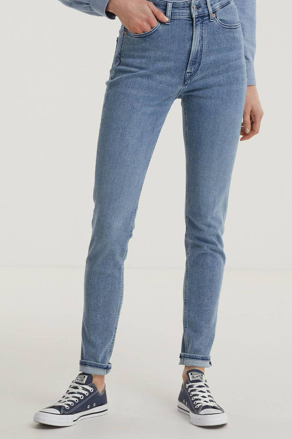 Kings of Indigo high waist skinny jeans CHRISTINA HIGH met biologisch katoen 5027 eco myla light used, 5027 ECO MYLA LIGHT USED