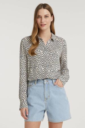 high waist loose fit jeans short ALICE SHORT met biologisch katoen 5048 purist blue