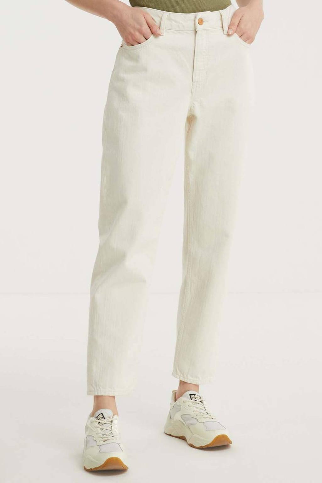 Kings of Indigo high waist straight fit jeans CAROLINE van biologisch katoen 7201 ecru, 7201 ECRU