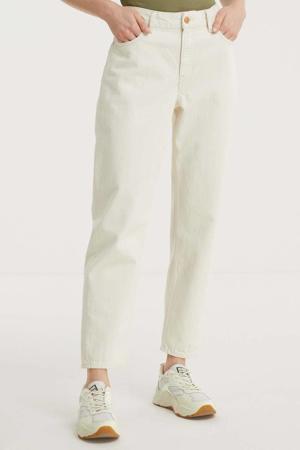 high waist straight fit jeans CAROLINE van biologisch katoen 7201 ecru