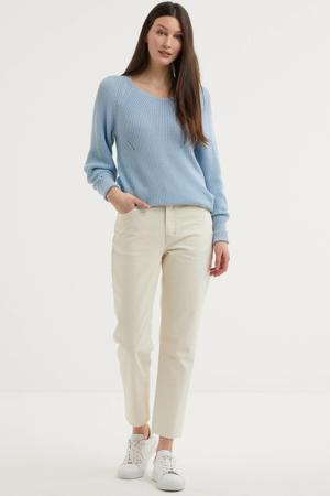 straight fit jeans ALICE SHORT van biologisch katoen 7201 ecru