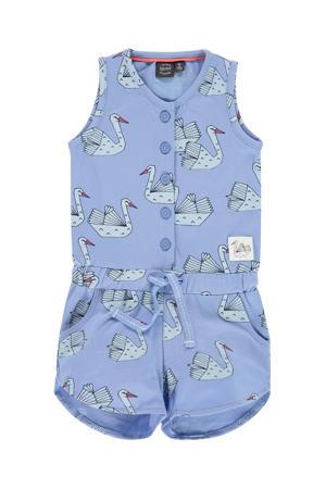 jumpsuit met all over print lavendelblauw
