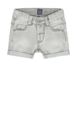 regular fit jeans bermuda lichtgrijs stonewashed