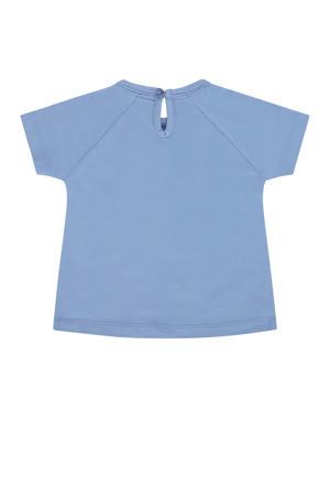 T-shirt met printopdruk lavendelblauw/wit/zwart