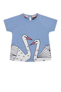 Babyface T-shirt met printopdruk lavendelblauw/wit/zwart, Lavendelblauw/wit/zwart